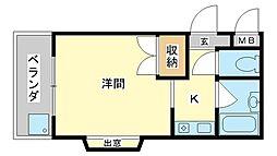 スターライト保城[3階]の間取り