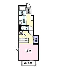 ペニーレイン[1階]の間取り