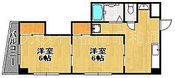 福岡県福岡市中央区今川2丁目の賃貸マンションの間取り