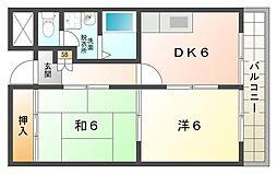 シャルマン錦[2階]の間取り