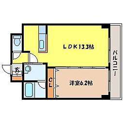 北海道札幌市北区北十条西3丁目の賃貸マンションの間取り