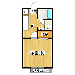 リバティーハウス桜B[1階]の間取り