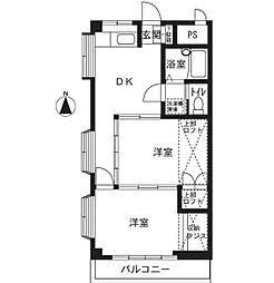 ユーホリアT[3階]の間取り