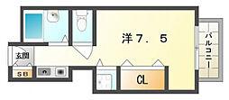 大阪府守口市大日町4の賃貸マンションの間取り