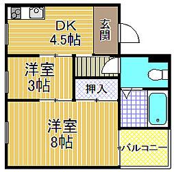酉島マンション[5階]の間取り