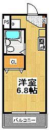 埼玉県越谷市大字袋山の賃貸マンションの間取り