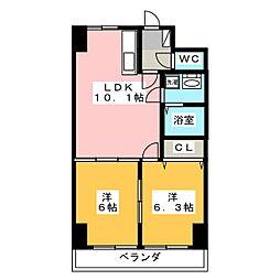ホワイトストーン[6階]の間取り