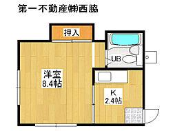 兵庫県加東市山国の賃貸アパートの間取り