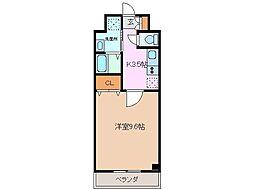 近鉄名古屋線 江戸橋駅 徒歩17分の賃貸マンション 1階1Kの間取り