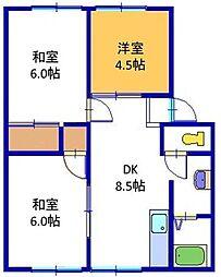 兵庫県神戸市西区南別府 3丁目の賃貸アパートの間取り