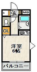 クリヨン宝塚[201号室]の間取り