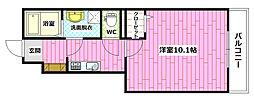 広島県広島市安佐南区高取北3丁目の賃貸アパートの間取り