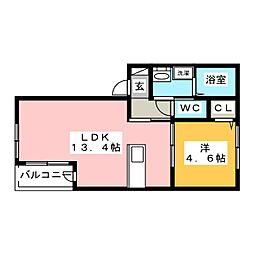 メゾンクラッセ愛宕南[1階]の間取り