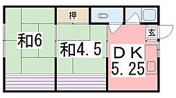 一宮マンション[13号室]の間取り