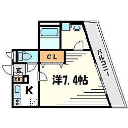 サクセス武庫川[1階]の間取り