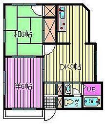 サンライフマンション[301号室]の間取り