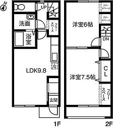 メゾンドサライ・II・B[105号室]の間取り
