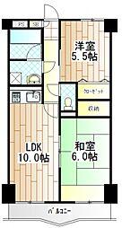 神奈川県相模原市南区古淵4丁目の賃貸マンションの間取り