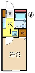 アネックス小泉[2階]の間取り