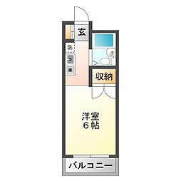 上福岡グリーンハイツ[402号室]の間取り