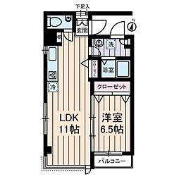 M・Sビアンカ[2階]の間取り