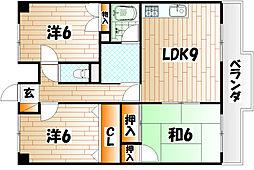 アート21若園[3階]の間取り