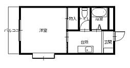 JR長崎本線 道ノ尾駅 徒歩5分の賃貸マンション 3階1Kの間取り