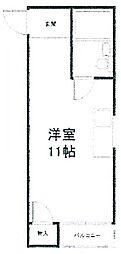 パークサイド矢田[3階]の間取り