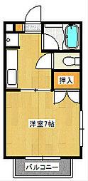 神奈川県藤沢市湘南台6丁目の賃貸アパートの間取り