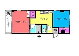 メゾン赤松[401号室]の間取り