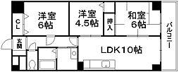 ラメゾンボヌール[6階]の間取り