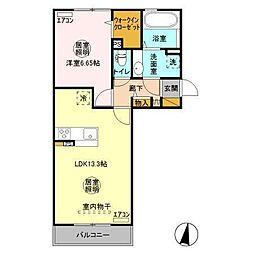 (仮)D-room人見[2階]の間取り