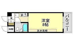 スチューデント平野[4O6号室号室]の間取り