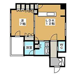 リーガル京都烏丸通り[4階]の間取り