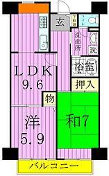 松戸駅前ハイツ[704号室]の間取り
