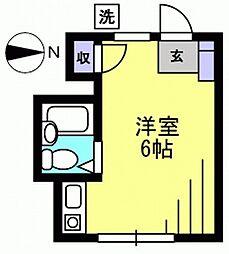 第6ハイムトシマ[305kk号室]の間取り