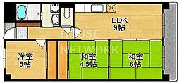 中川第6コーポ[605号室号室]の間取り