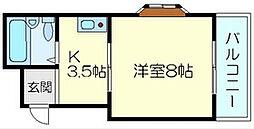 メラレンタル4[402号室]の間取り