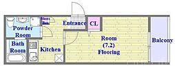神戸市西神・山手線 板宿駅 徒歩10分の賃貸アパート 2階1Kの間取り