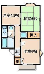 リッチハウスツインA[2階]の間取り