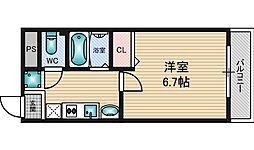 フローライト新大阪[6階]の間取り