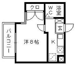 コナビック東伊場[4階]の間取り