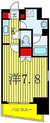 サンイング飯田橋 5階1Kの間取り