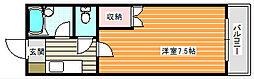 アベニュー西住之江[4階]の間取り