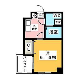 ラフォーレ博多[6階]の間取り