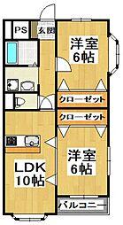 大阪府堺市中区深井北町の賃貸マンションの間取り