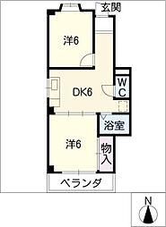 メゾン・ド・オオシマ[3階]の間取り