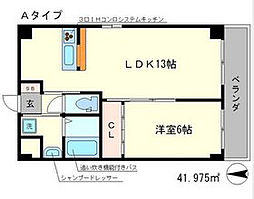 The Manor House 西院[105号室]の間取り