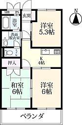 シャトレ鍋島 3[3503号室]の間取り