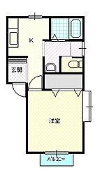 新潟県新発田市新富町3丁目の賃貸アパートの間取り